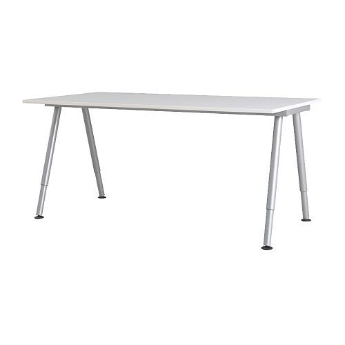 "IKEA - GALANT, Desk, , 10-year Limited Warranty. Read about the terms in the Limited Warranty brochure.Deep table top gives a generous work surface and lets you sit at a comfortable distance from the computer monitor.You can mount the table top at a height that suits you, since the legs are adjustable between 23 5/8-35 3/8"".The melamine surface is durable, stain resistant and easy to keep clean."