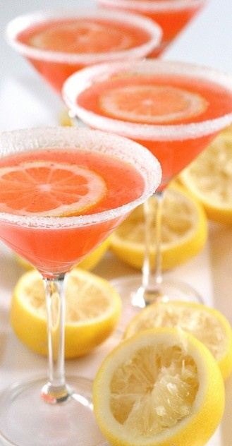 Sparkling Strawberry Lemonade Cocktails. This would be even better with alcohol added.