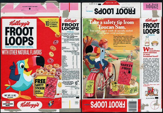 Kellogg's Froot Loops | Kellogg's Froot Loops cereal box - Safety Stickers - 1978 | Flickr ...