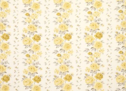 Clarissa Floral Cotton Fabric, Camomile The lush blooms and scattered floral sprigs of our Clarissa design create a beautifully romantic backdrop for stylish living spaces. This pure cotton fabric is suitable for curtains and blinds. 100% cotton.