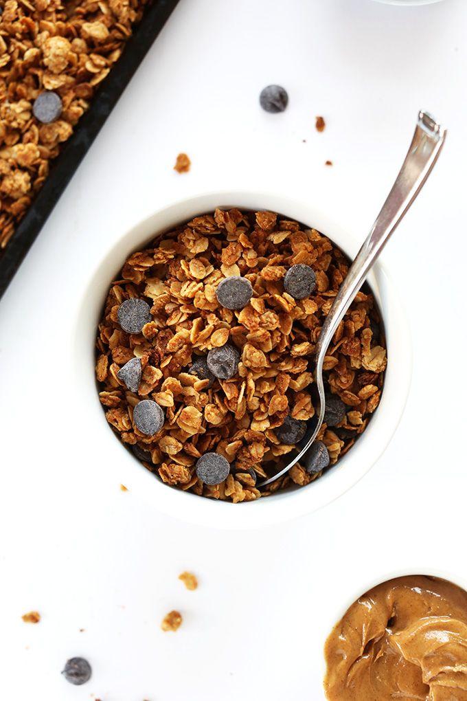 Peanut Butter Chocolate Chip Granola | Minimalist Baker Recipes