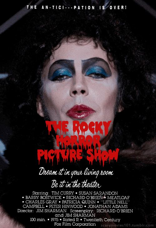 "he-put-a-spell-on-me: ""scarymovies101: "" The Rocky Horror Picture Show (1975) "" Love it, love it… LOVE IT. ❤❤ "" Hell yes! ❤"