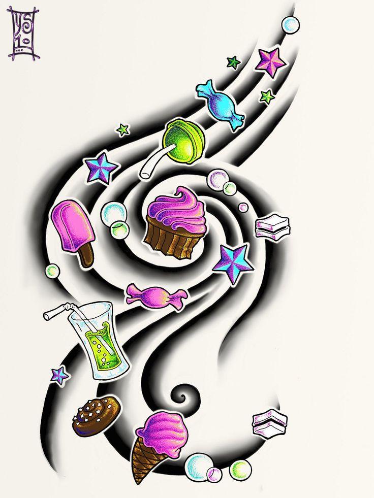 Candy Tattoo by Myandra.deviantart.com on @deviantART