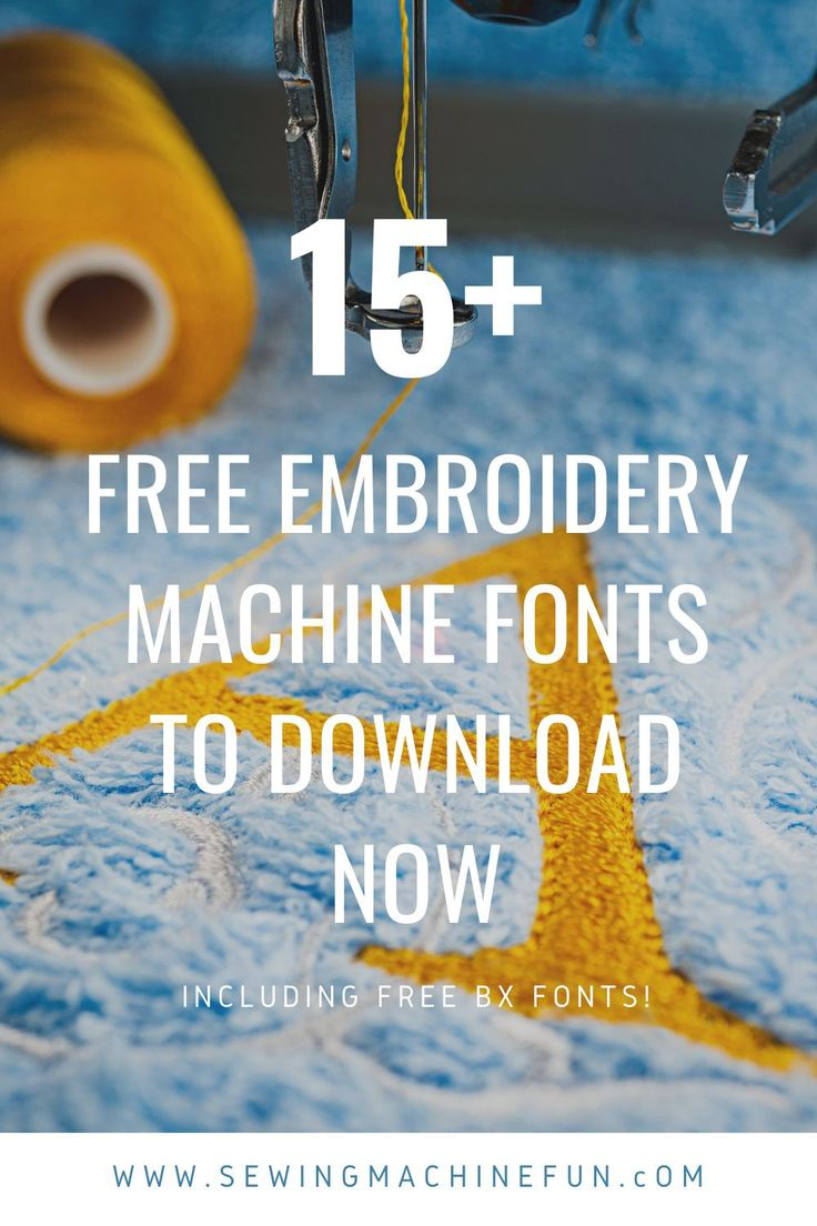 Download 20+ Free Embroidery Machine Fonts to Download Now ...