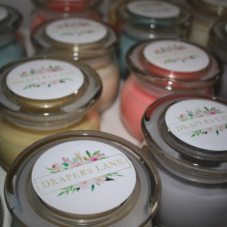 """36 Likes, 3 Comments - Drapers Lane (@draperslane) on Instagram: """"Our first batch of 100% natural soy candles, labelled and ready to go. Stay tuned for details!…"""""""