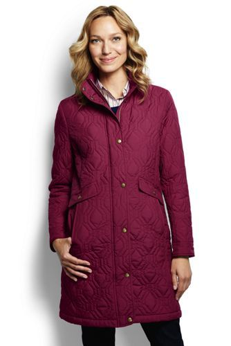 Women's Quilted Primaloft Coat from Lands' End : ok, black version is def a steal!