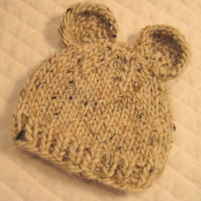 Bebeknits Little Bear Baby Hat Knitting Pattern by bebeknits