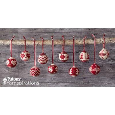Merry Fair Isle Knit Ornaments