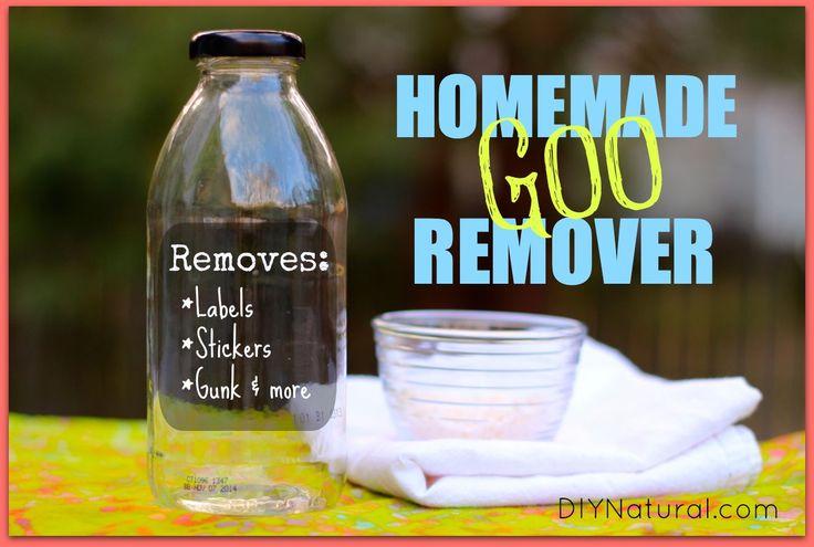 Homemade Natural Adhesive and Goo Remover