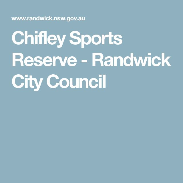 Chifley Sports Reserve - Randwick City Council