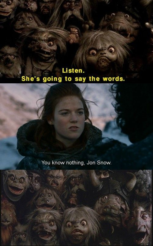Labyrinth and Jon Snow hahahaha