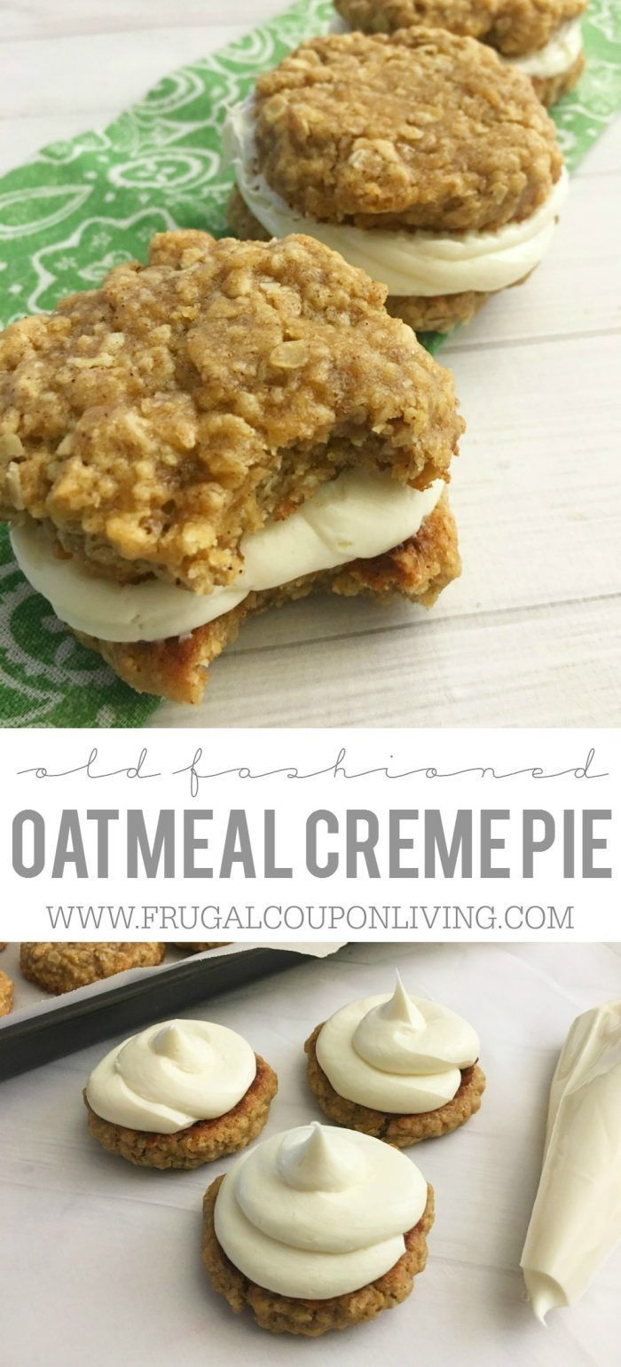 Oh my goodness, these are seriously better than the real thing. These Homemade Oatmeal Creme Pies are easy to make and so delicious. Recipe on Frugal Coupon Living.