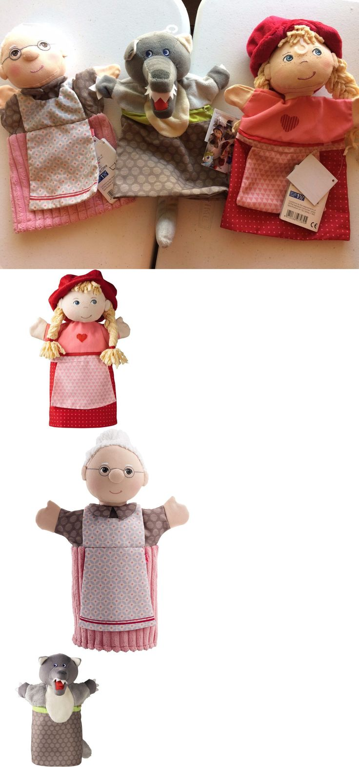 1970-Now 11741: Haba Hand Puppet Set Little Red Riding Hood, Wolf And Grandma, Ages 18 Month+ -> BUY IT NOW ONLY: $43.5 on eBay!