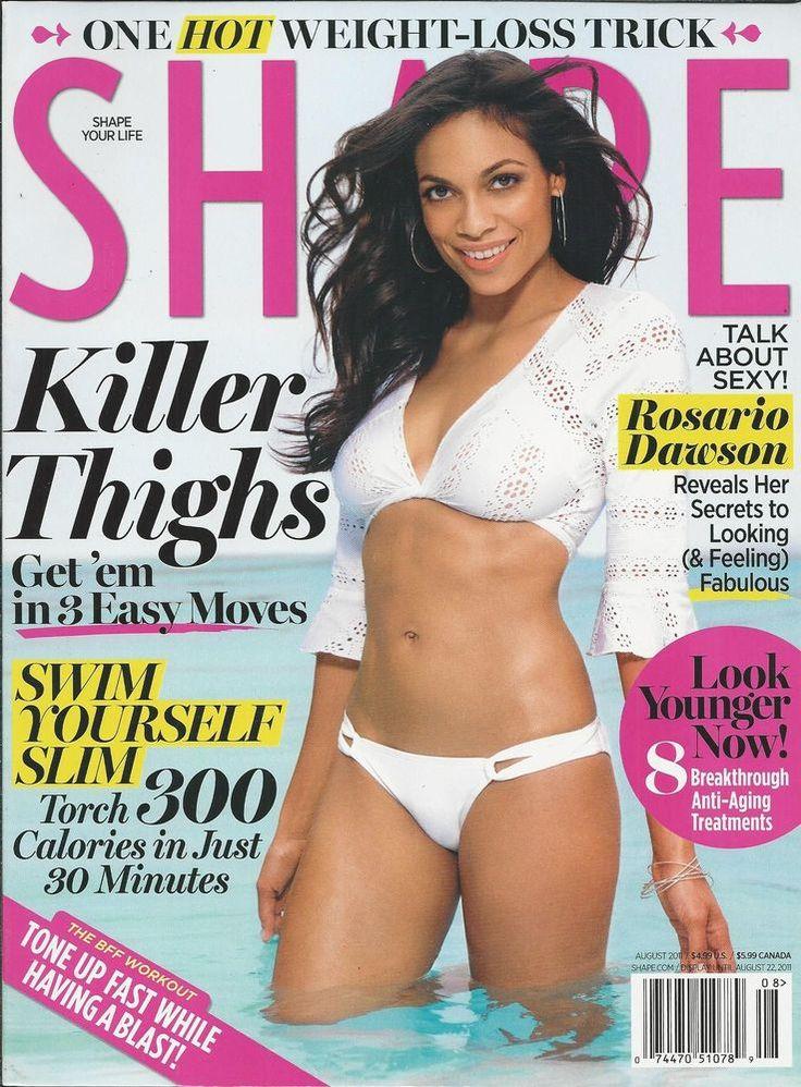 Shape magazine Rosario Dawson Thighs Weight loss Anti aging treatments Swimming