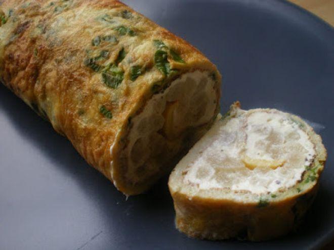 Rețetă Omleta cu crema de branza si sparanghel