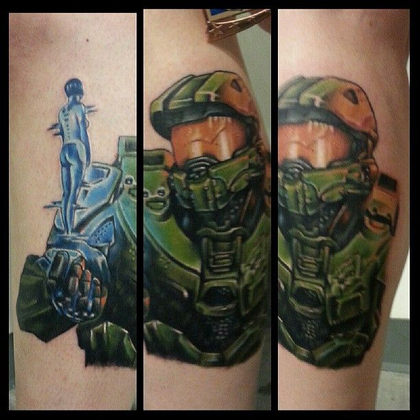 halo video game tattoo designs images galleries with a bite. Black Bedroom Furniture Sets. Home Design Ideas