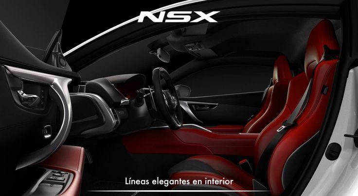 Colores exuberantes, materiales de lujo y lineas elegantes en el interior del NSX. #ADNAcura #InspiradoEnTi #NSXenLeon