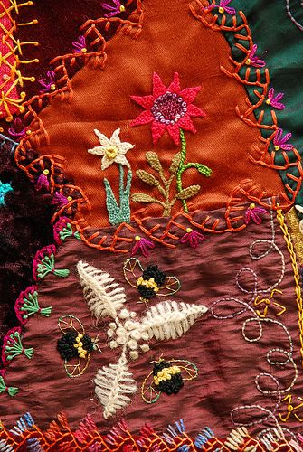 Crazy Quilt ~ Exceptionally beautiful work!