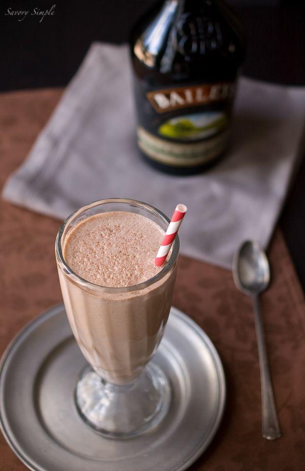 Nutella Irish Cream Milkshake ~    Ingredients (Makes 1):  >1 cup vanilla ice cream  >¼ cup Nutella  >1 shot Bailey's Irish Cream.  Puree all ingredients in blender. Serve immediately.    From dinnersdishesanddesserts.