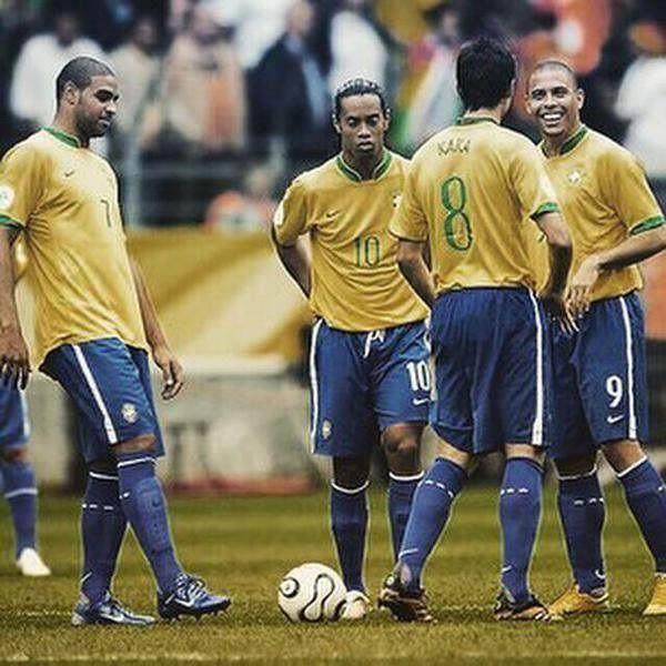 Kaka, Ronaldinho, Ronaldo, Adriano • Dawna reprezentacja Brazylii w piłce nożnej • Wielkie gwiazdy w Brazylii • Wejdź i zobacz >>