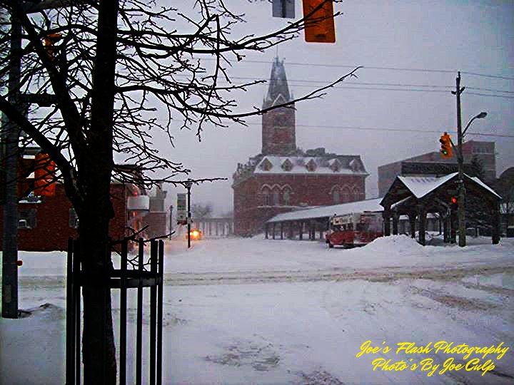 Snowstorm over Belleville's Market square Belleville Ontario