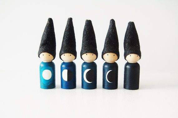 Phases Of The Moon Gnomes Educational Toys Waldorf by Zooble