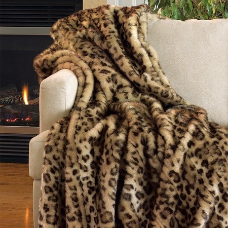faux leopard blanket as decor throw accent
