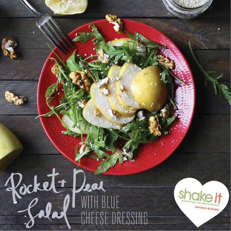 Delicious Rocket & Pear Salad, perfect for the Shake-it diet