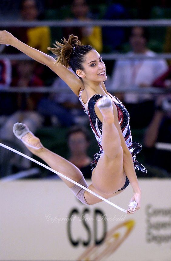 Almudena Cid (Spain), World Championships (Madrid) 2001. Copyright Tom Theobald