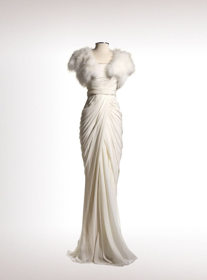 J Mendel Wedding Dress 2013. I wish with every fiber of my being that more brides would try stuff like this. GORGEOUS.