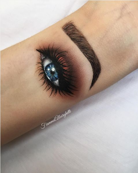 We've all learned a very important lesson here today. Be the smokey eye you wish to see in the world. | People Are Now Doing Hand Makeup And It's Actually Mesmerizing