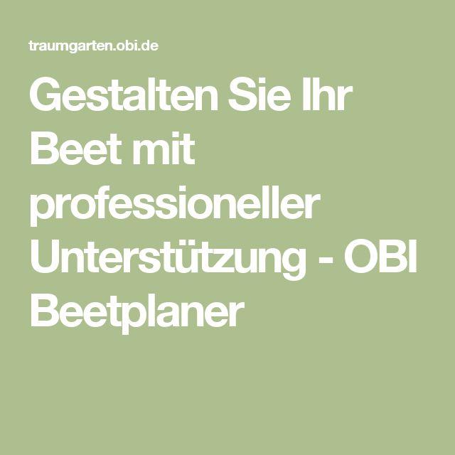 Gestalten Sie Ihr Beet mit professioneller Unterstützung - OBI Beetplaner