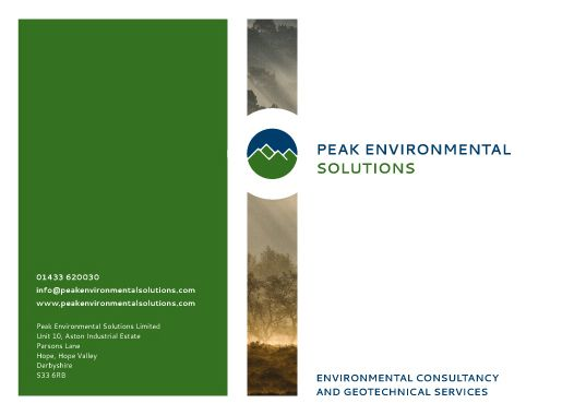 Peak Environmental Solutions - Brand Refresh Copyright © Peak Enviromental Solutions 2016