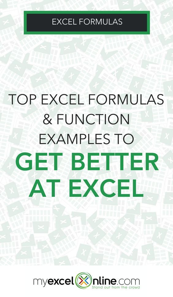 Excel Formulas  Function Examples Excel Tips Pinterest
