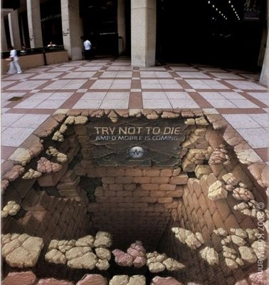 3d sidewalk painting. Don't fall in!