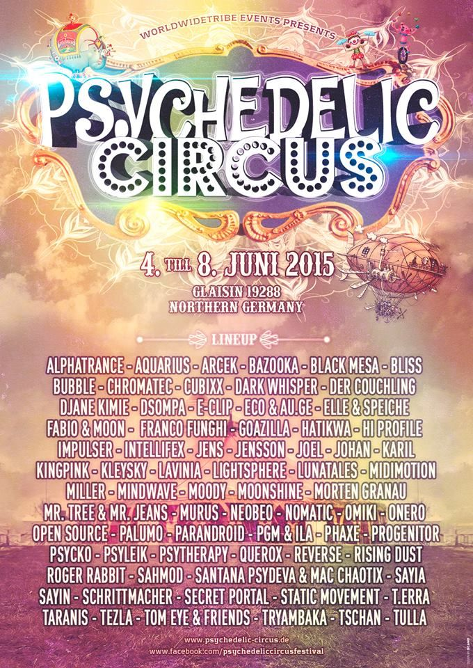 Open Source confirmed for Psychedelic Circus.