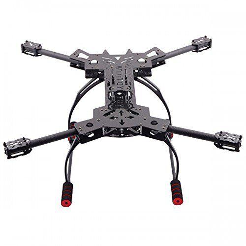 Juego de Estructura Top Elecs Reptile 4 ejes de fibra de carbono plegable Quadcopter con el tren de aterrizaje HJ-H4
