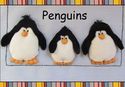Penguins Applique Kit. (copyright Jan Kerton) Available at Australian Needle Arts. To view full range and more details please visit http://www.australianneedlearts.com.au/applique-blankets-jan-kerton
