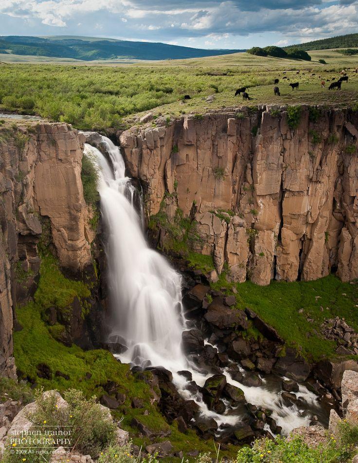 North Clear Creek Falls, near Gunnison Colorado