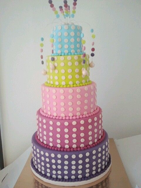 a lot of dots cake. made by me to place in the shopwindow at work