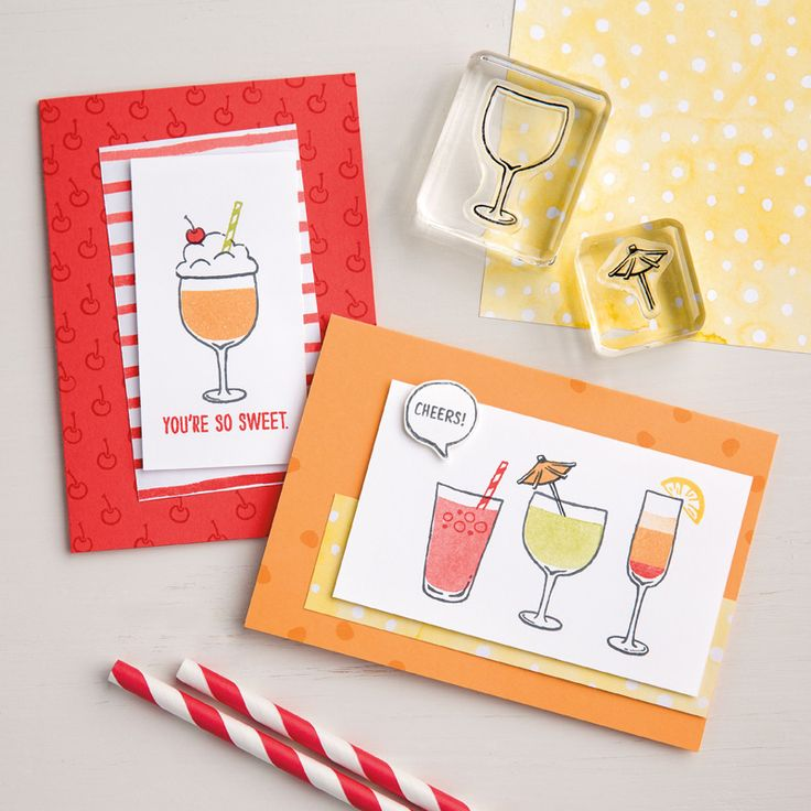 Levons notre verre Photopolymer Stamp Set (French) by Stampin' Up!