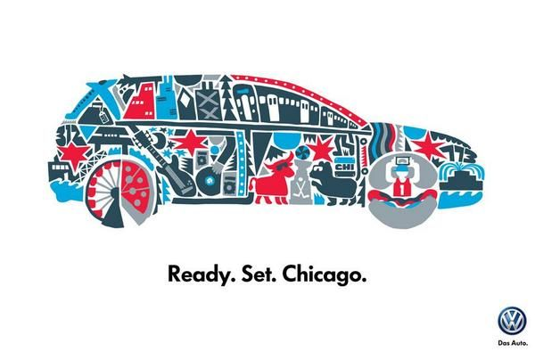 Chicago based artist, Cody Hudson, shows love for his hometown with the all-new Volkswagen Golf!
