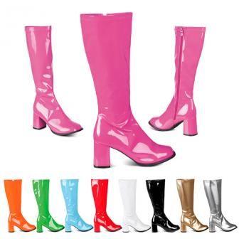 """Lackstiefel """"Retro Boots"""" günstig kaufen bei PartyDeko.de"""