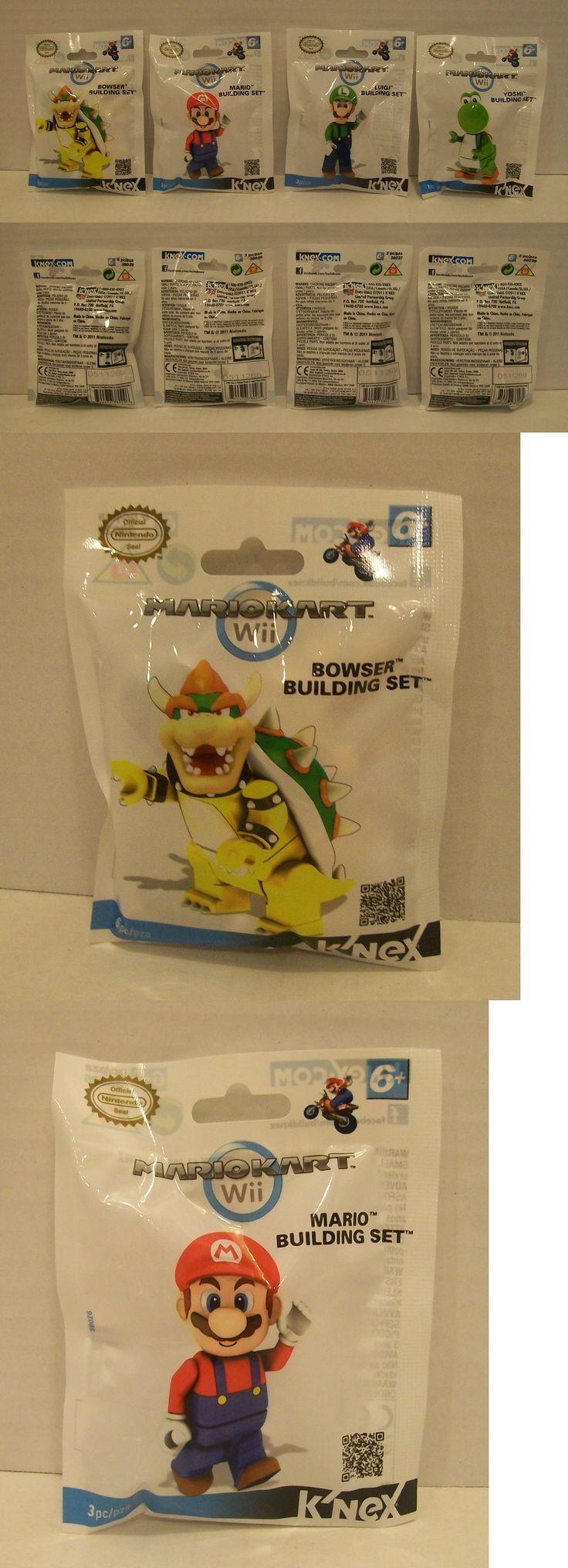 KNEX Set 4 Knex Bowser Mario Luigi Yoshi Minifigures Wii Nintendo Mariokart