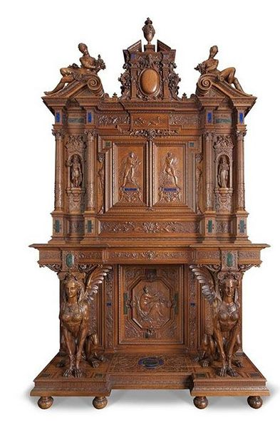 World's Fair of 1867 Henri-Auguste Fourdinois, Two story Cabinet, Grand Prix of the World's Fair of 1867, Museum of Decorative Arts, Paris.