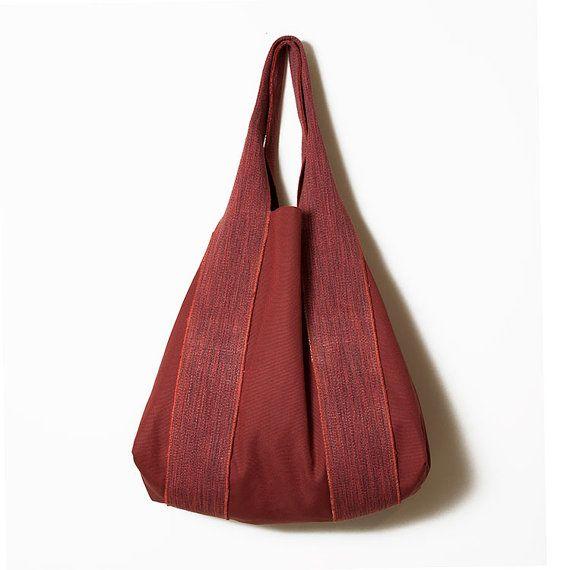Raspberry large canvas women bag  Fuchsia by ElenaVandelliBags