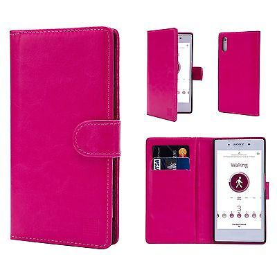 Book-Wallet-PU-Leather-Case-Cover-For-Sony-Phones-Screen-Protector-amp-Stylus
