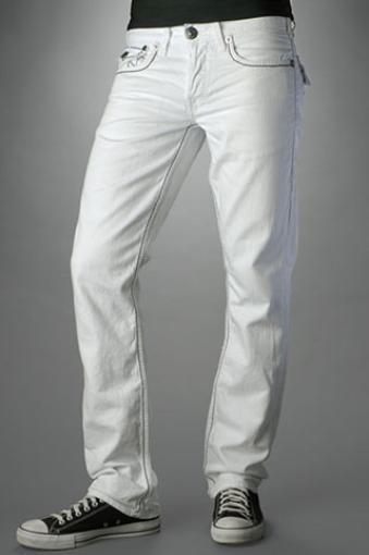 Белые мужские джинсы в обтяжку
