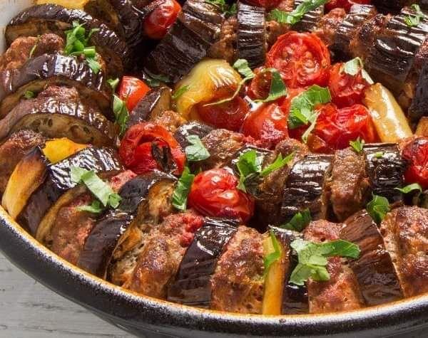 طريقة عمل كباب باذنجان بالفرن Food Beef Meat