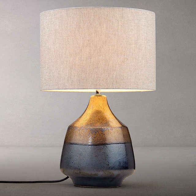 John Lewis Delaney Metallic 2 Glaze Ceramic Table Lamp, Bronze at John Lewis